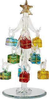 lsarts glass tree with ornaments clear 6