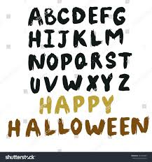 set drawing scary letters alphabet stock vector 225202483