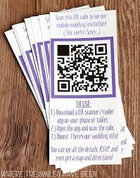 Wedding Invitation Diy Diy Wedding Invites With Mobile App U0026 Qr Code Free Cut Files