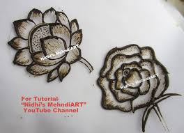 learn 21 different rose flowers pattern in mehndi designs with