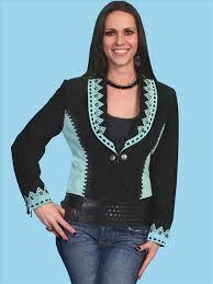 scully aztec design two tone jacket western wear women western