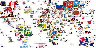 Map Of Globe Polandball Map Of The World 2016 Polandball