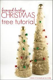 burlap christmas tree tutorial
