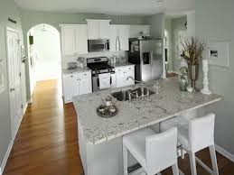 Two Tone Gray Walls green colored countertops two tone gray kitchen cabinets gray