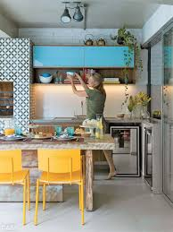 Blue Yellow Kitchen - 4 tips and 30 ideas to spruce up your kitchen digsdigs