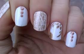life world women gold u0026 white floral u0026 dry brush nail art design