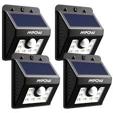 Wireless Outdoor Lighting - mpow solar power lights outdoor lighting wireless 8 led security