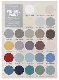 the grand illusions vintage chalk paint colour card at studio