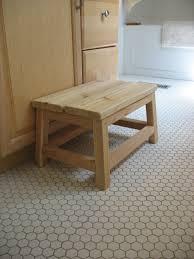 Ana White Cedar Spa Bathroom Step Stool DIY Projects - Bathroom step