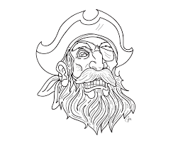 pirate tattoo beard and mustache with gold tooth and eye patch
