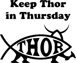 keep thor in thursday vinyl car window and laptop decal sticker