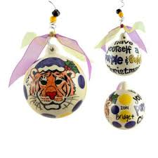 lsu tigers ornaments louisiana state personalized ornaments