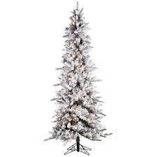 sterling inc pre lit palm tree 7 5 white green narrow pencil pine