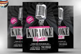 karaoke night flyer template flyer templates creative market