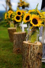 wedding flowers sunflowers wedding flowers sunflowers aisle decor by ulysses photography