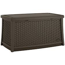 Outdoor Storage Coffee Table Suncast Elements Resin Patio Storage Coffee Table Java Walmart