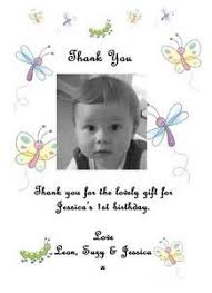 birthday thank you card 10 personalised 1st 2nd 3rd 4th 5th birthday thank you cards add a