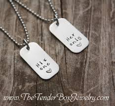 his and hers dog tags his one only mini dog tag his and hers necklace set