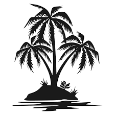 palm tree island cuttable design palm tree