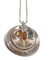 mothers necklaces with names and birthstones bundlr of 3 children necklace