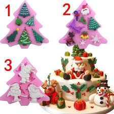 christmas series tree shape santa claus christmas fondant silicone