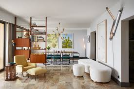 an explosion of mid century modern design in a monaco apartment