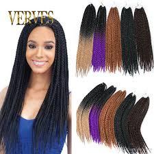 box braids hairstyle human hair or synthtic box braids hair crochet 22inch crochet hair extensions 100g