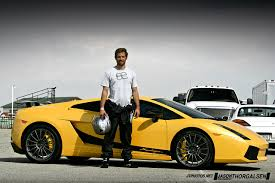 Lamborghini Gallardo Front - paul walker standing in front of the 2008 lamborghini gallardo