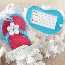 flip flop wedding favors flip flop luggage tag in theme gift box luggage tag
