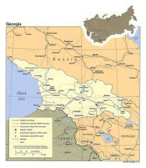 Political Map Of Asia Maps Of Georgia Detailed Map Of Georgia In English Tourist Map
