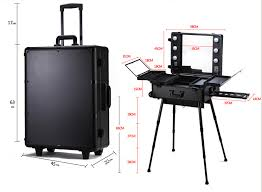 makeup luggage with lights professional makeup trolley luggage case lighted professinal makeup