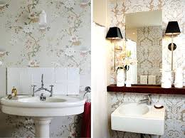small bathroom wallpaper ideas wallpaper designs for bathroom hondaherreros com