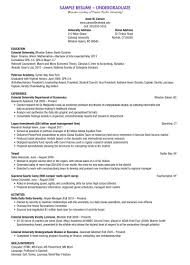 resume experience chronological order or relevance theory undergraduate resume exle exles of resumes