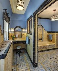 mediterranean style bathrooms trendy twist to a timeless color scheme bathrooms in blue and yellow