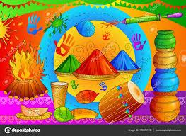india festival of color happy holi background u2014 stock vector