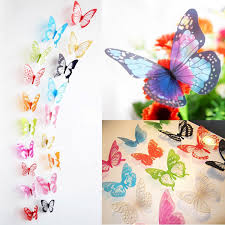amazon com elecmotive 36 pcs 3d color crystal butterfly wall