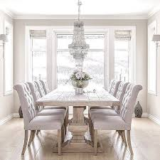 Dining Room Sets With Fabric Chairs by Best 10 Neutral Dining Rooms Ideas On Pinterest Dinning Room
