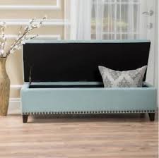 bed bench end storage cushion foot king upholstered bedroom