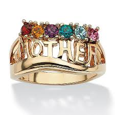gold mothers rings birthstone ring 14k gold plated at palmbeach jewelry