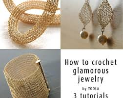 Knitted Chandelier Earrings Pattern Crochet Wire Jewelry Patterns And Diy Gifts By Yoola On Etsy