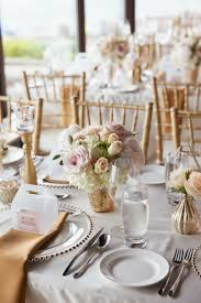soft blush and gold wedding and decor wedding table