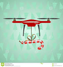 drone delivery candy modern delivery of gifts for christmas gr