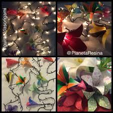 guirnaldas de luces con formitas en origami byplanetaresina