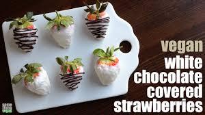 White Chocolate Dipped Strawberries White Chocolate Covered Strawberries Vegan Something Vegan Youtube