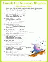 Nursery Rhymes Game For Baby Shower