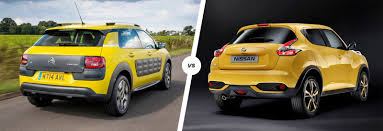 nissan juke vs ford ecosport citroen c4 cactus vs nissan juke crossover clash carwow