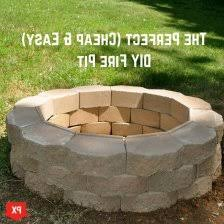 Building A Firepit Diy Simple Brick Firepit This Diy Firepit Is The Easiest Of