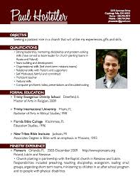Free Sample Resume Template by Pastor Resume Template Resume Example