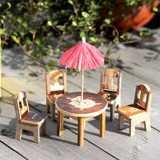 wood lego house mini wooden table chair set dollhouse miniature furniture toy