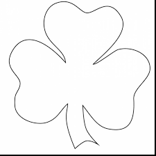 remarkable printable shamrock coloring pages with shamrock